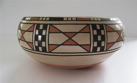 Native American San Ildefonso Pottery Bowl, by Blue Corn #238-Sold