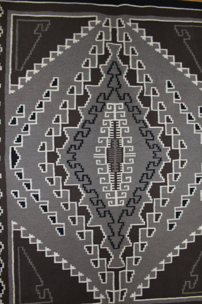 Navajo Rug : Native Rug, Navajo Two Gray Hills Weaving with Old Crystal Pattern by Veronic Kinsel #81
