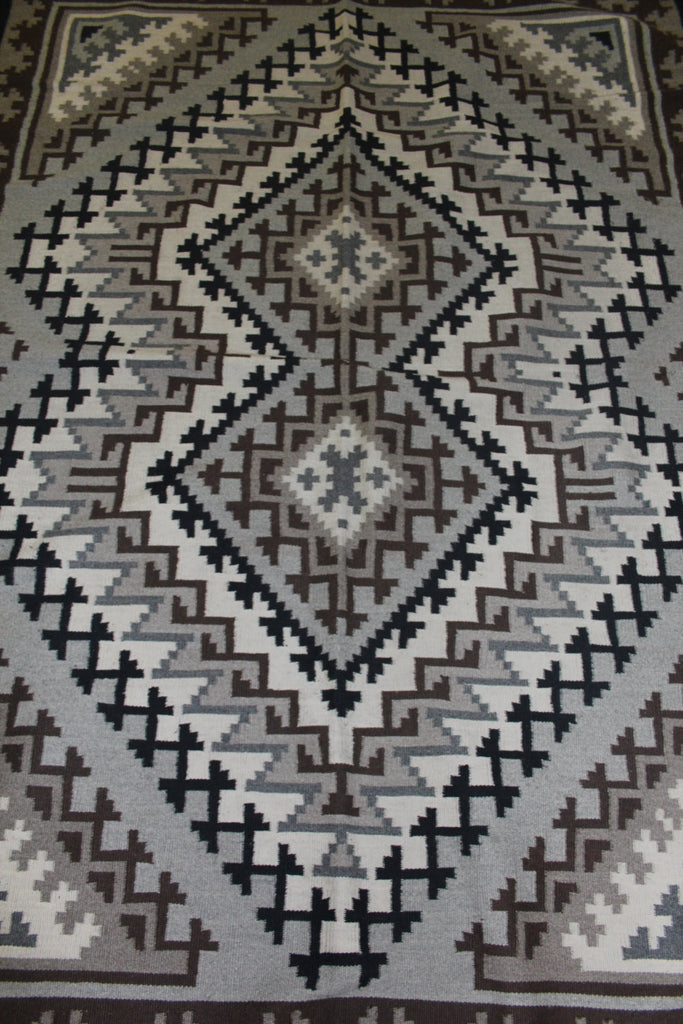 Native American Rug by Marie Barber,  Navajo Two Grey Hills Weaving #93