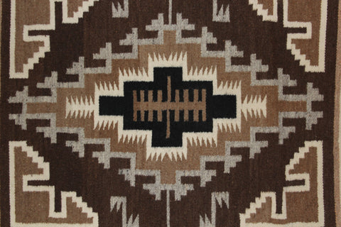 Navajo Rugs : Two Grey Hills Navajo Weaving by Lucy Simpson #95