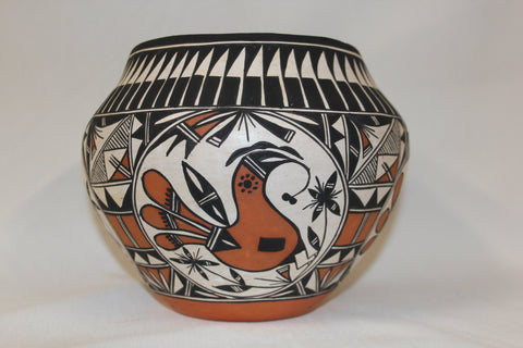 Acoma Pueblo Pottery, Very Nice Polychrome Acoma Pottery Bowl #47 Sold