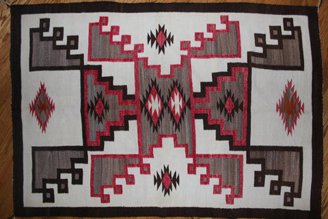 Old Navajo Crystal Rug with Double Storm Design #97