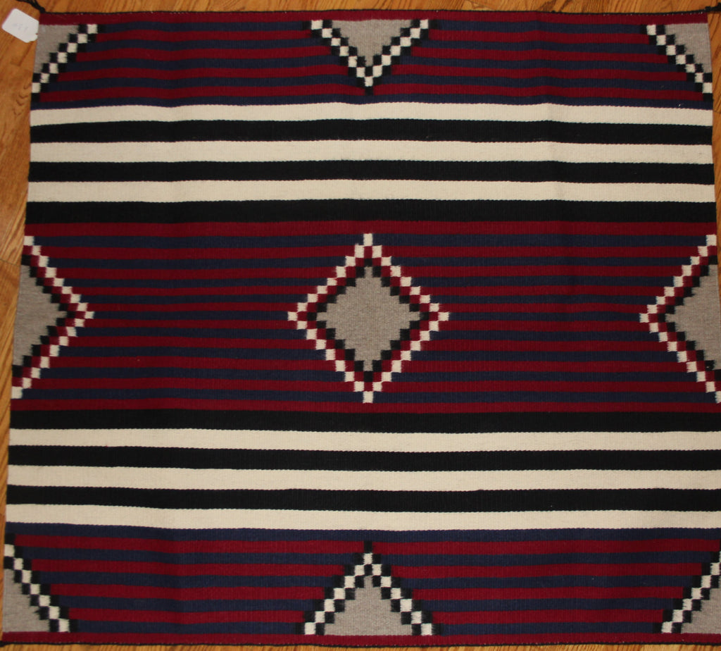 Hand Woven Wall Hanging : Very Fiine Navajo, Hand Woven Third Phase Chiefs Pattern by Nancy Etcitty #178
