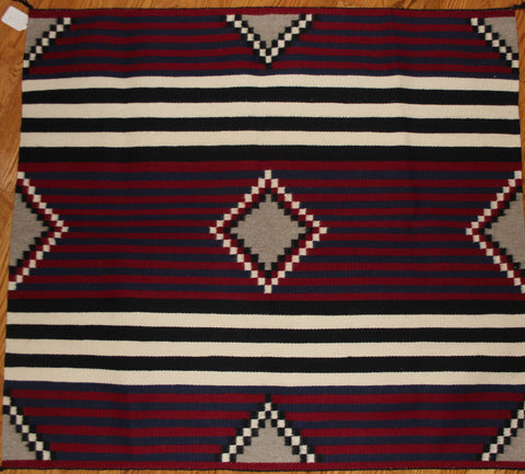 Hand Woven Third Phase Chiefs Pattern by Nancy Etcitty #178 Sold