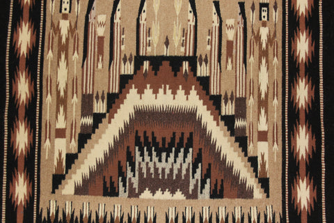 Navajo : Extremely Fiine, Navajo Yei Textile by Sally Simpson #180 Reserved for Larry