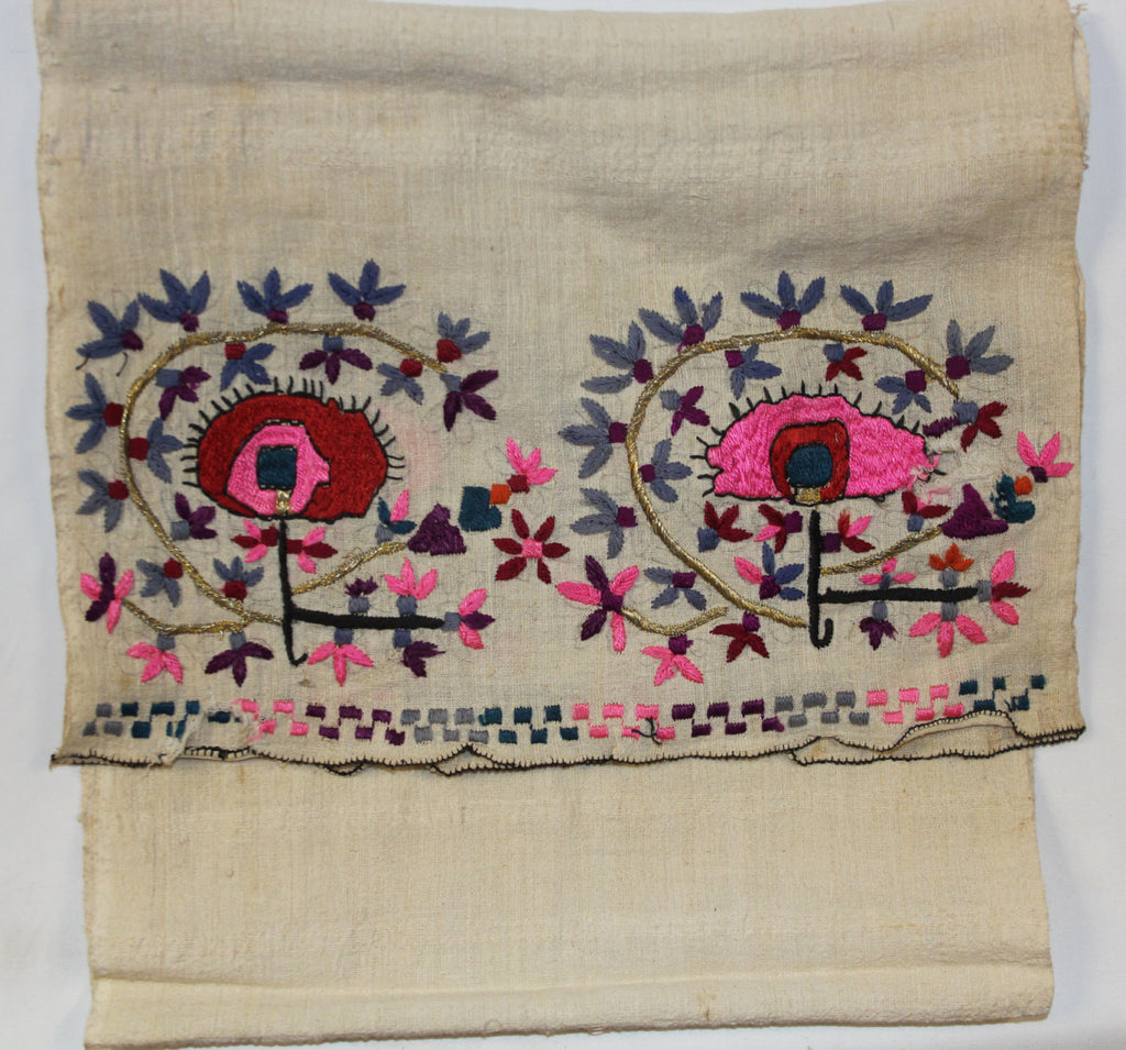 Turkish :Vintage Turkish Hand Embroidrered Table Runner