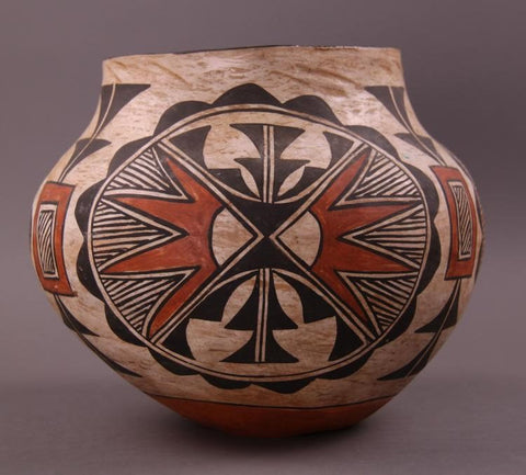 Native American Acoma Polychrome Olla #245
