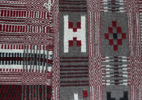 Navajo Rug : Excellent Two Face Navajo Textile, by Victoia Davis #221-Sold