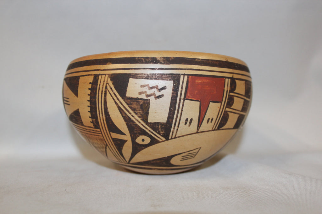 Pottery Bowl : Beautiful Hopi Pottery Bowl by Ethel Youvella #259