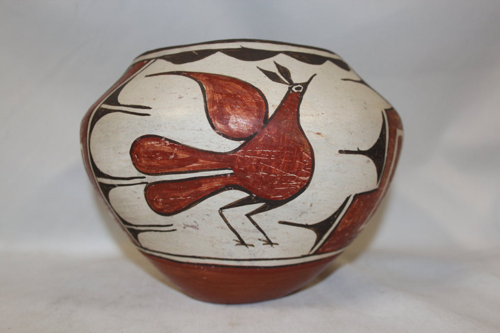 "Native American Pottery : Great Zia Polychrome Pottery ""Bird Jar"" by Kathy Pino #264"