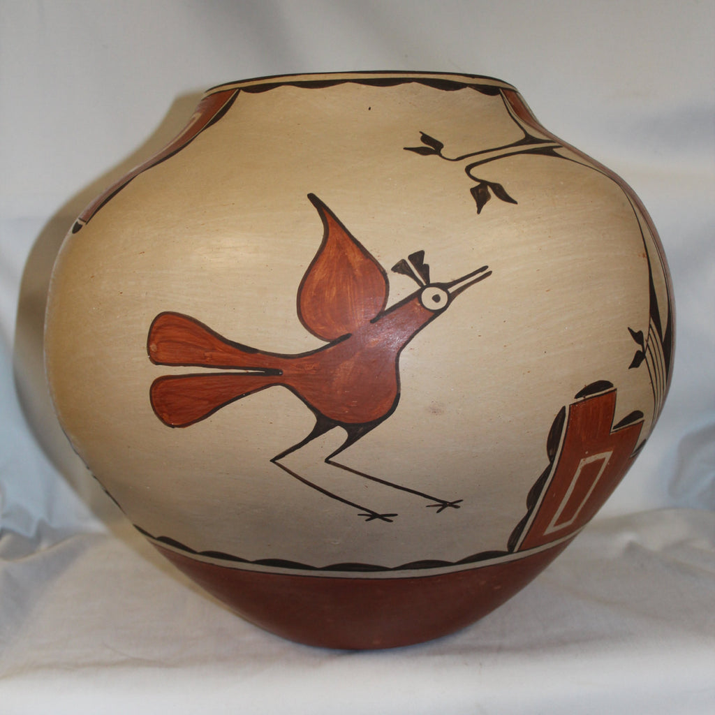 Zia Pottery : Extraordinally Massive Zia Storage Jar by Kathy Pino #265
