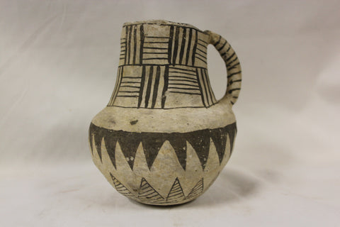 Anasazi Black on White Snowflake Pitcher, Ex Bonhams & Butterfields, New York #269