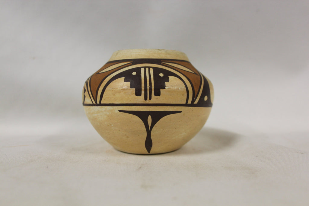 Hopi Pottery : Isleta Polychrome Pottery Jar with Hopi Design by Stella Teller #271