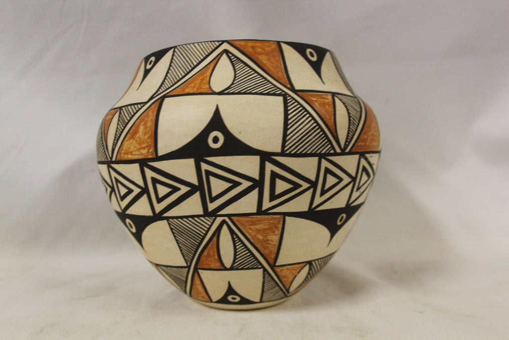 Acoma Pottery : Exceptional Vintage Acoma Polychrome Pottery Olla by Denise J. Valle #277