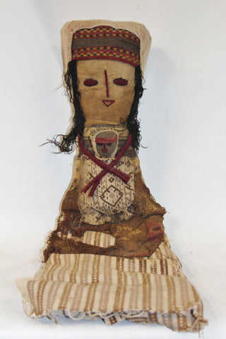 Peruvian Doll : Large Chancay Peruvian Funerary Doll #348