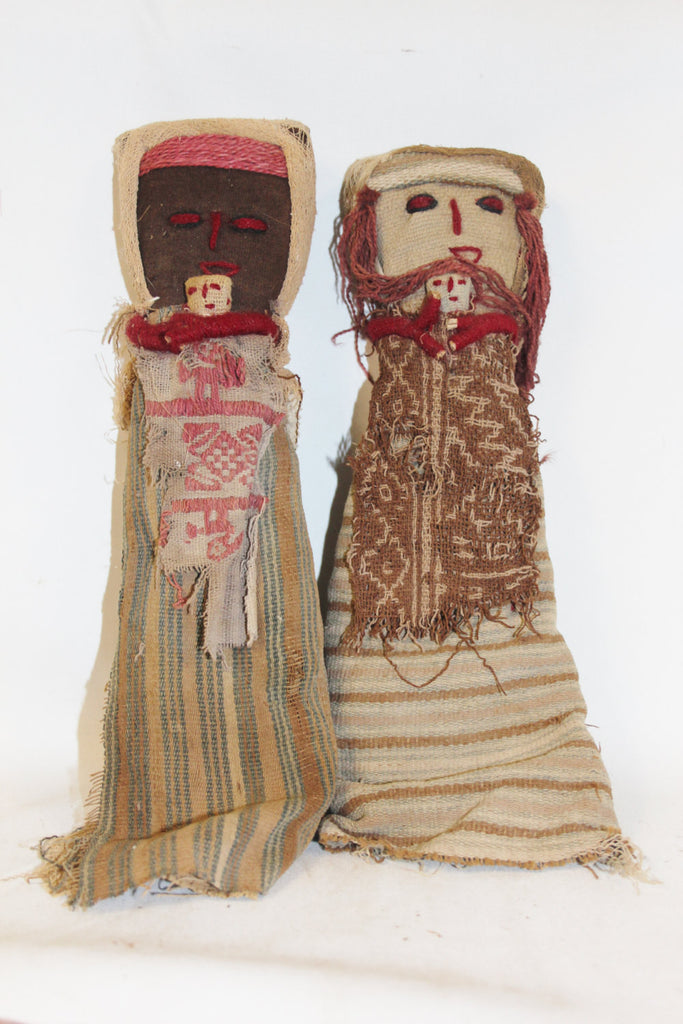 Peruvian Dolls : Medium Chancay Peruvian Funerary Dolls-Set of 2 #346
