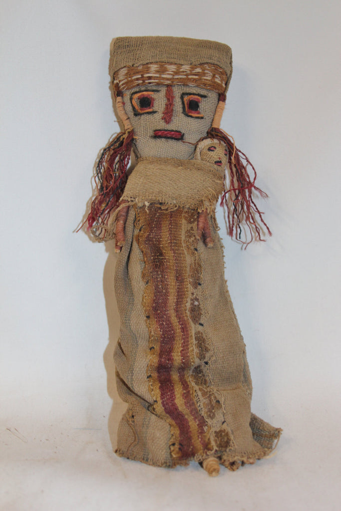 Medium Chancay Peruvian Funerary Doll,# 348