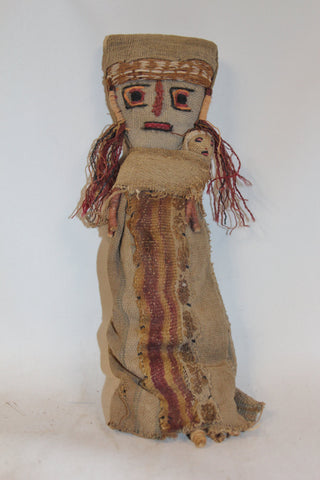 Medium Chancay Peruvian Funerary Doll,# 347