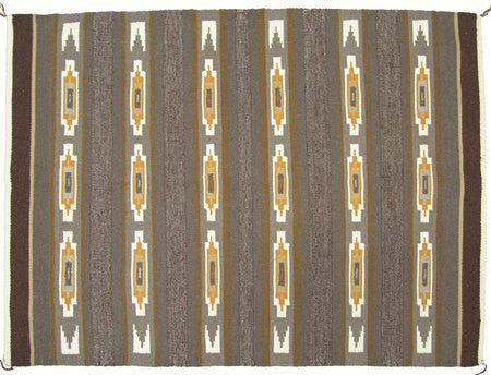 Native Weaving : Fine Weave Crystal/Wide Ruins Rug With Geometrics and Way Bands #287