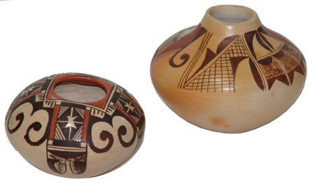 Hopi Pottery :  2 Very Good Hopi Pottery Jars By Adelle Nampeyo #292