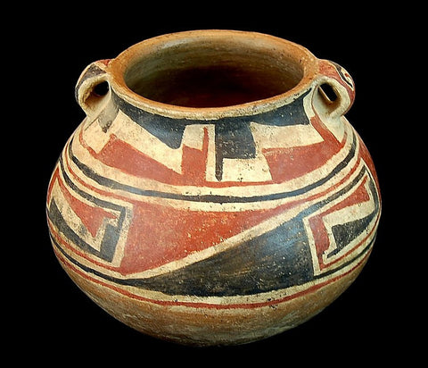 Pottery, Handmade Pottery : Great Casas Grande Pottery Handled Jar #286