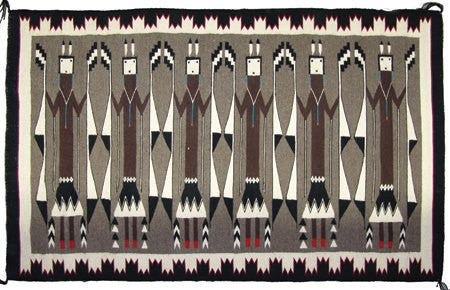 Navajo Rug : Super Fine Large Size Yei Figured Navajo Weaving/Rug #296