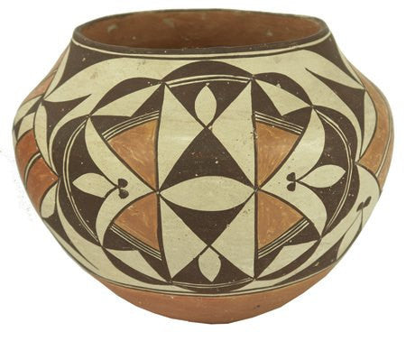 Vintage Pottery : Classic Design Vintage Polychrome Acoma Pottery Olla #308