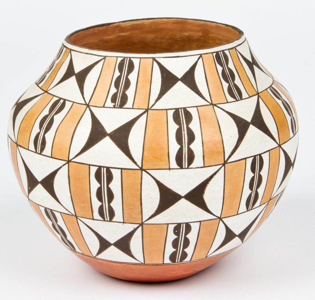 Pottery Pot : Classic Vintage Polychrome Acoma Pottery Pot #311