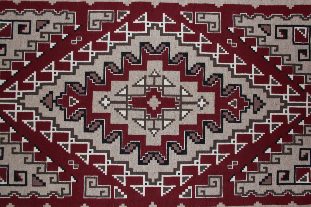 Weaving Wall Hanging : Intricate Designed Navajo Ganado/Two Gray Hills Regional Style Weaving by Helen Allen Johnson #324