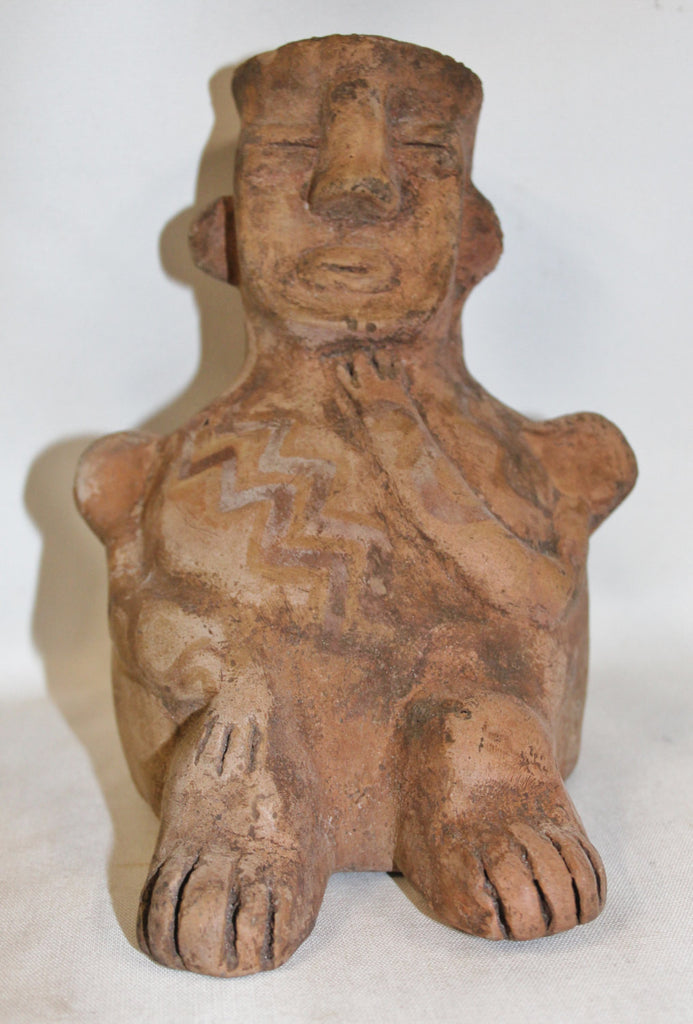 Effigy : Very Nice Tiwanaku Clay Effigy In The Shape of a Man From Bolivia #356