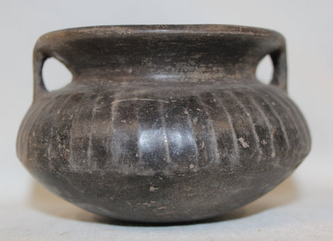 Pottery Bowl : Very Nice Pre-Columbian Chimu Stirrup Pottery Bowl From Peru #365-Sold