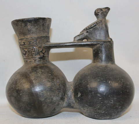 Bird Whistle : Very Nice Pre-Columbian Chimu Bird Whistle Vessel From Peru #369 SOLD