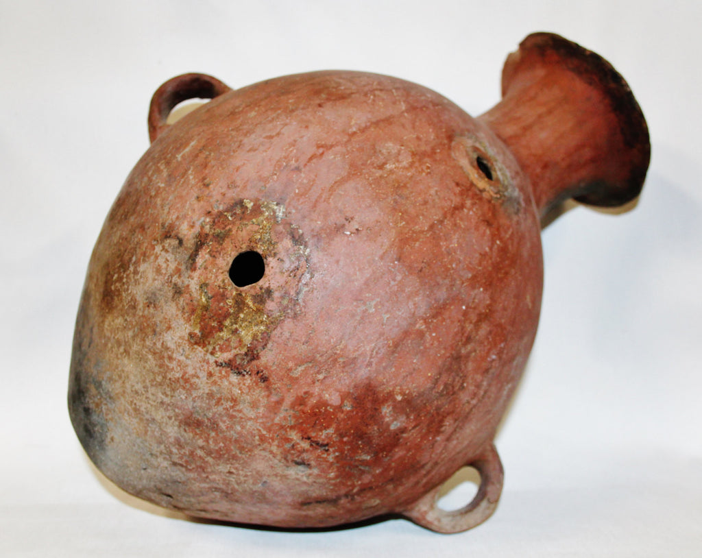 Pre Columbian : Very Nice Large Pre-Columbian Mapuche Pottery Earthen Ware Storage Vessel from Ecuador #400