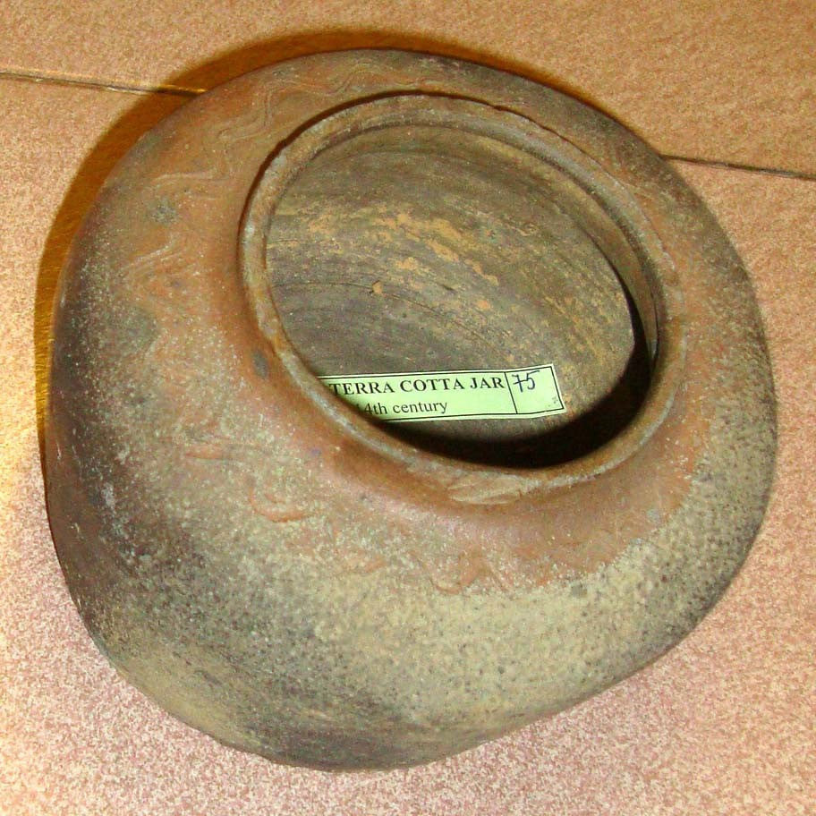 A Very Fine and Old Terra Cotta Jar from the Kinh (Viet) People Northern Viet Nam, 13th-14th Century