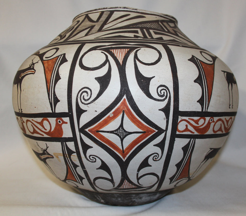 Zuni Pottery : Outstanding Very Large Historic Zuni Pottery Storage Pot ca 1890 #405