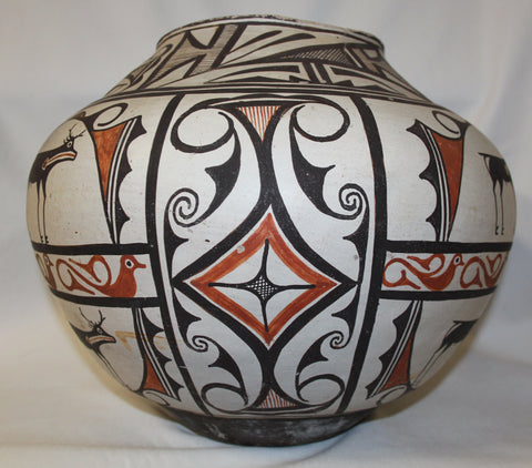 Native American Historic Zuni Pottery Storage Pot ca 1890 #405