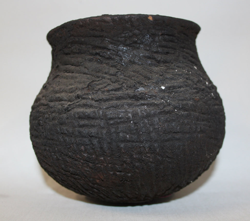 Pottery Pot : Rare Small Khiamungan Earthen Pottery Pot from Nagaland, NE Inda #420