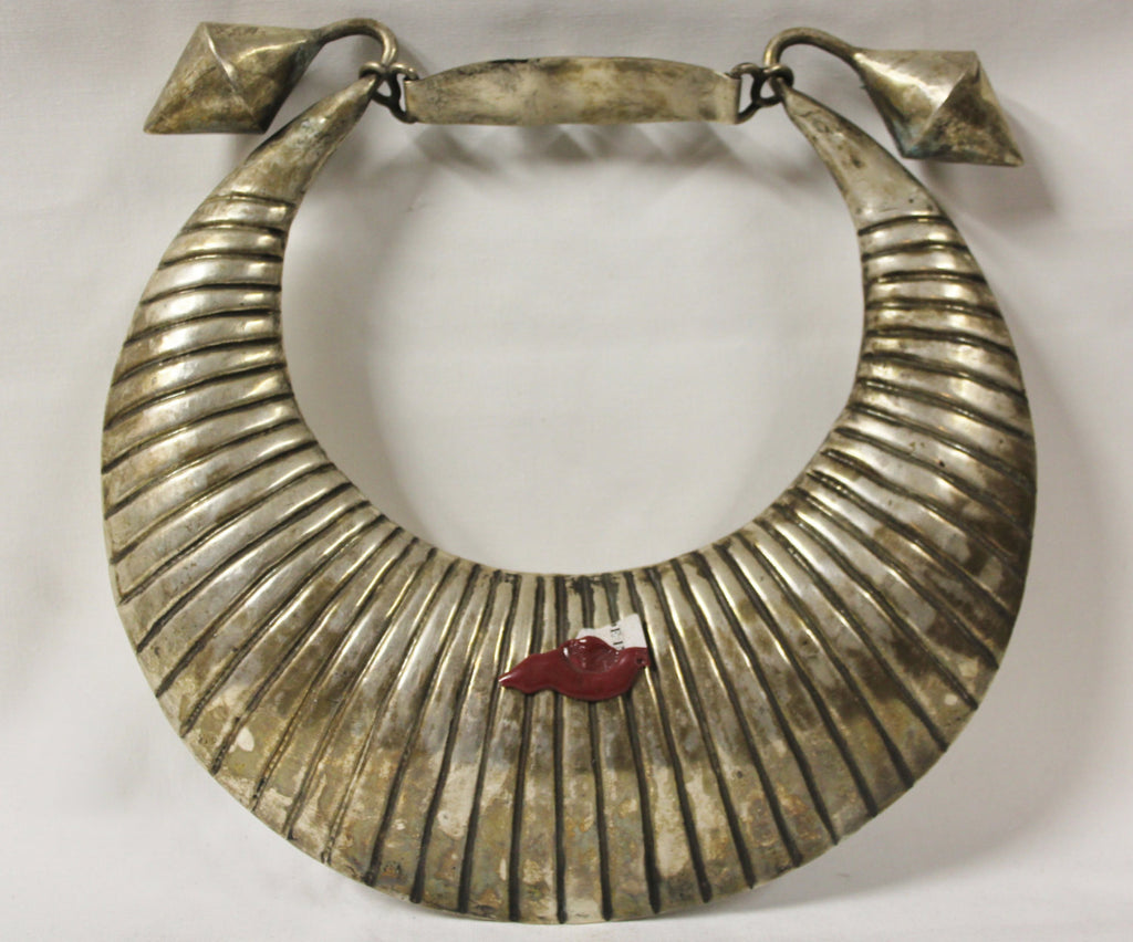 Vintage Necklace : Incredible Rare Silver Vintage Miao Hmong Ceremonial Collar Necklace from the Mountainous Region of Tibet #427