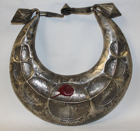 Antique Necklace : Incredible Rare Silver Vintage Miao Hmong Ceremonial Collar Necklace from the Mountainous Region of Tibet #430