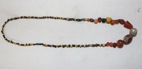 Rare Beads : Rare String of Historic Assorted Beads from Bagan, Myanmar #449-Sold