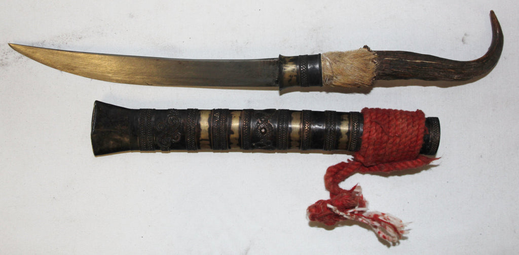 Ceremonial Knife : Vintage Chin Ceremonial Knife from Inle Lake, Myanmar #452