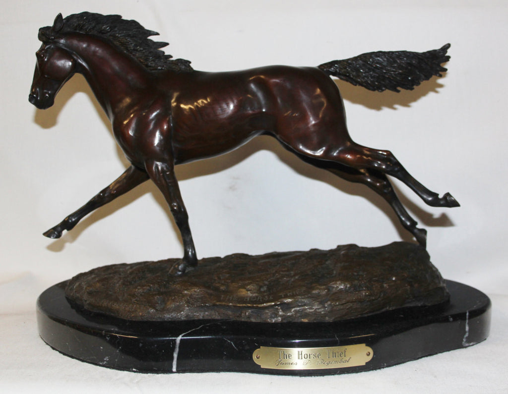 "Horse Sculpture : Outstanding James Regimbal Rare Limited Edition Bronze Sculpture ""The Horse Thief"" 23/50, 1978 #467"