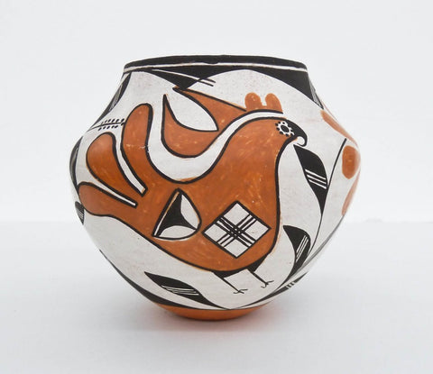 Acoma Polychrome Pottery Jar by Lucy Lewis (1900-1992) #472