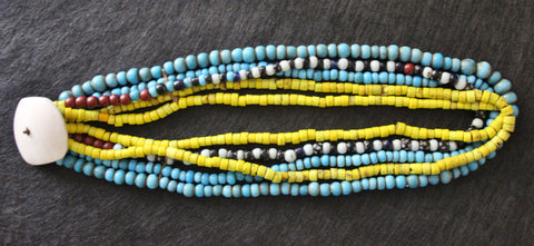 Beaded Necklace : Authentic Vintage Konyak Padre Bead Necklace from Nagaland, NE India #483
