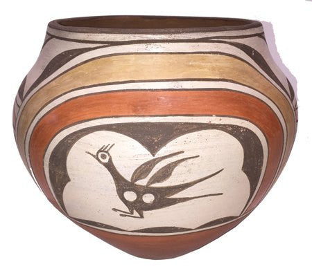 Pottery Jar by Sophie Medina, Native American Vintage Zia Pottery Jar, ca 1955 #497