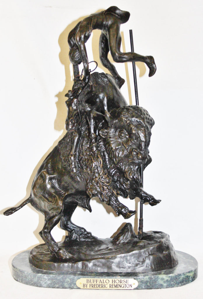 "Metal Sculpture : After Frederic Remington, ""Buffalo Horse"" Bronze Sculpture #506"