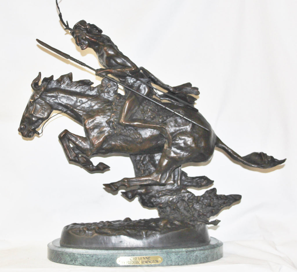"Cheyenne : After Frederic Remington, ""Cheyenne"" Bronze Sculpture #514"