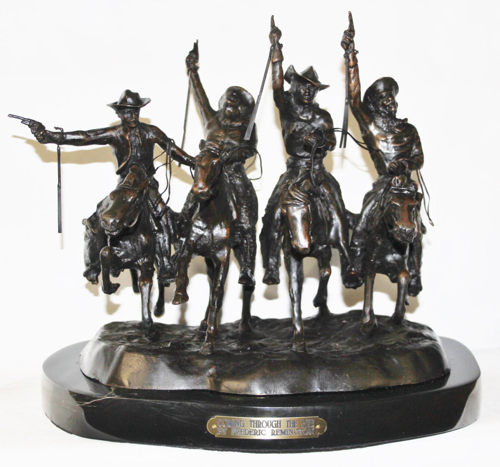 "Sculpture : After Frederic Remington, ""Coming Through the Rye"", Bronze Sculpture #515"