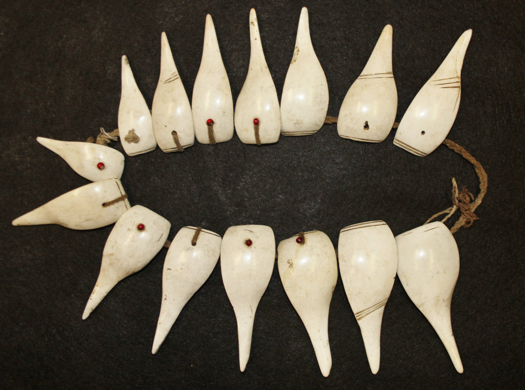 Shell Necklace : Authentic Konyak Tribe Woman's Large Slice Shell Necklace #546