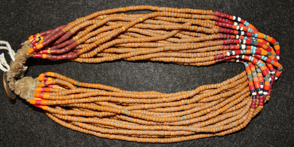 Royal Necklace : Authentic Konyak Naga ‰ÛÏRoyal‰۝ Bead Necklace from Beads That Are Normally in Belts or Collars. #562